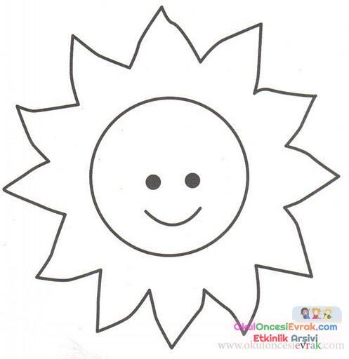 Güneş Ay Yıldız Dünya 26 Preschool Activity