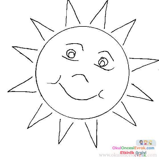 Güneş Ay Yıldız Dünya 35 Preschool Activity
