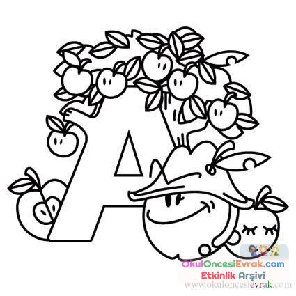 Harfler Boyama 2 Preschool Activity