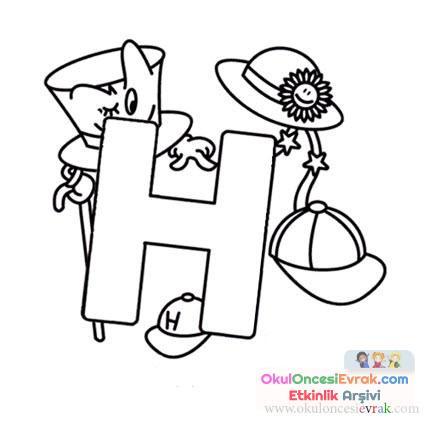Harfler Boyama 9 Preschool Activity