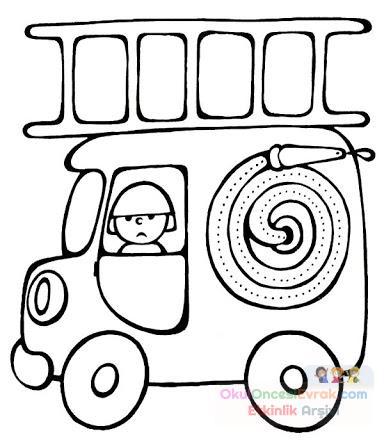 Itfaiye Boyama Sayfası Preschool Activity