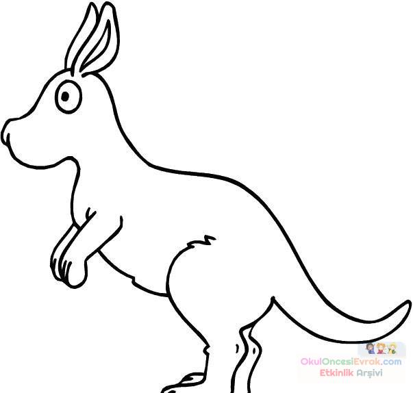 Kanguru Hayvanlar Boyama 9 Preschool Activity