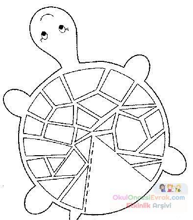 Kaplumbağa Hayvanlar Boyama 1145 Preschool Activity
