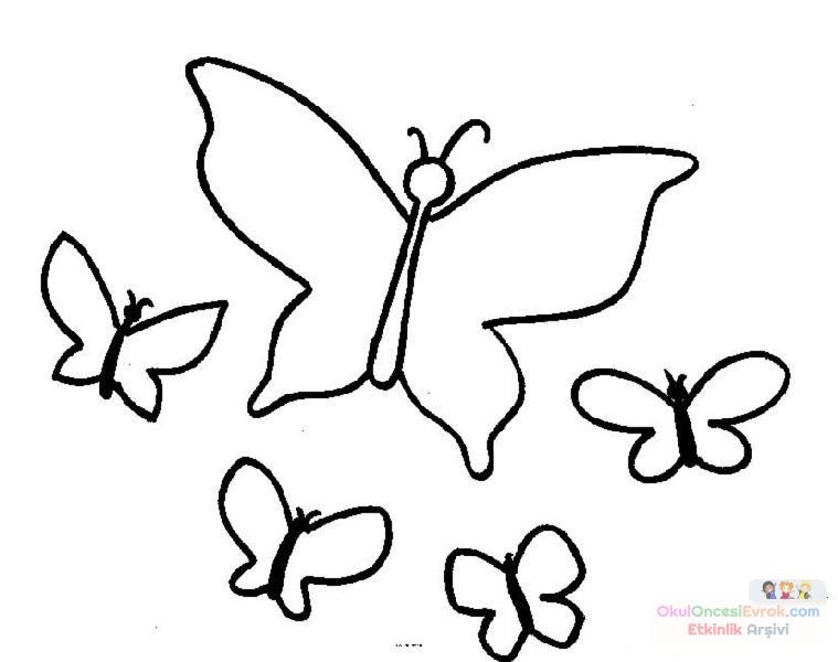 Kelebek Hayvanlar Boyama 21 Preschool Activity