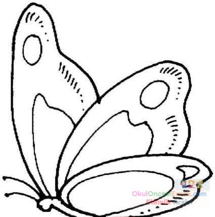 Kelebek Hayvanlar Boyama 25 Preschool Activity