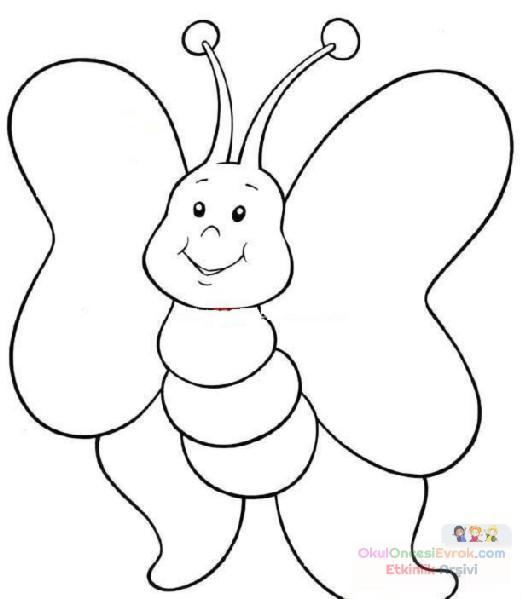 Kelebek Hayvanlar Boyama 8 Preschool Activity