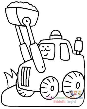 Kepçe Boyama Sayfası Preschool Activity