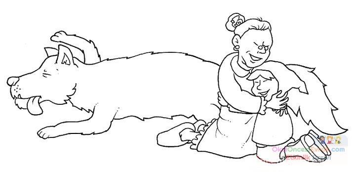 Kırmızı Başlıklı Kız Boyama 21 Preschool Activity