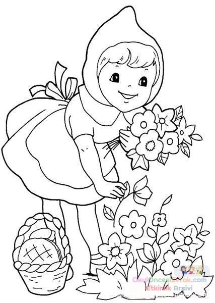 Kırmızı Başlıklı Kız Boyama 7 Preschool Activity