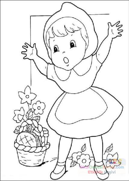 Kırmızı Başlıklı Kız Boyama 8 Preschool Activity