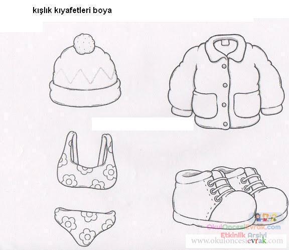Kışlık Giysiler Preschool Activity