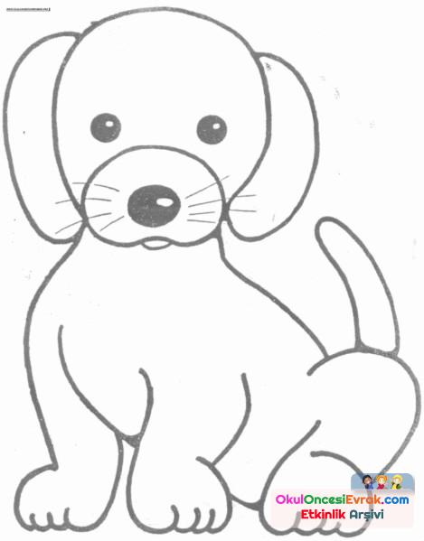 Köpek Boyama Preschool Activity