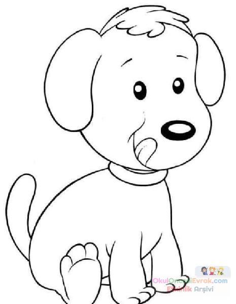 Köpek Hayvanlar Boyama 20 Preschool Activity