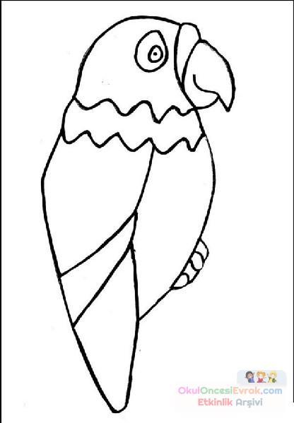 Kuş Hayvanlar Boyama 18