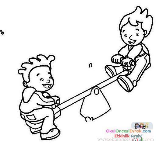 Lunapark Boyama 10 Preschool Activity