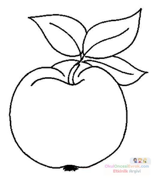 Meyve Sebze şeftali Preschool Activity