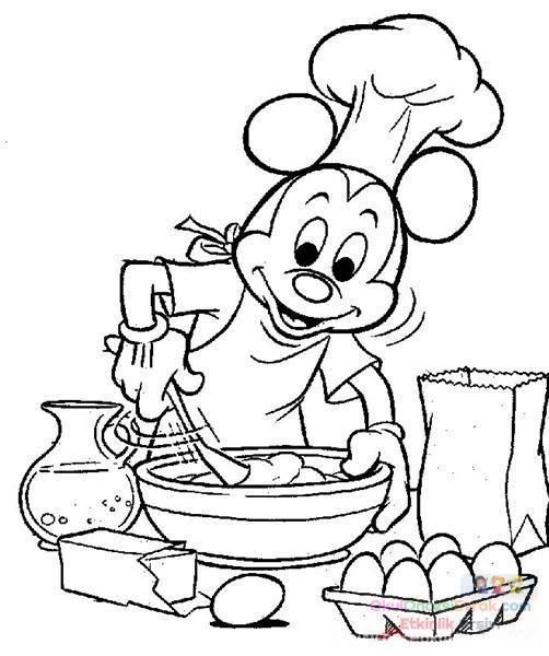 Miki Mouse Boyama 20 Preschool Activity