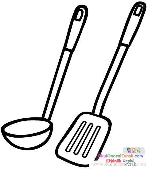 Mutfak Eşyaları 18 Preschool Activity