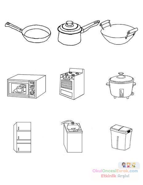 Mutfak Eşyaları 72 Preschool Activity