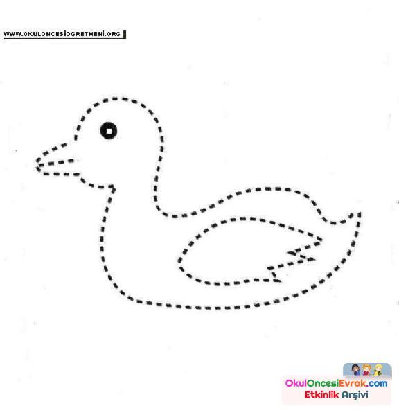 ördek Nokta Birleştirme Preschool Activity