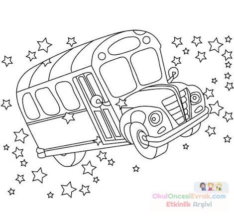 Otobüs Boyama Preschool Activity
