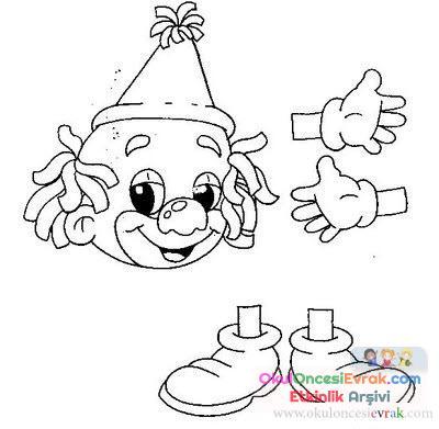 Palyaço Boyama 12 Preschool Activity