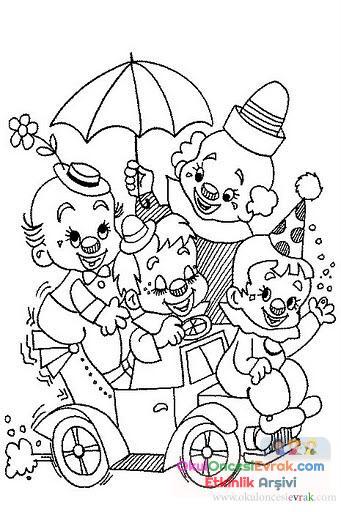 Palyaço Boyama 3 Preschool Activity