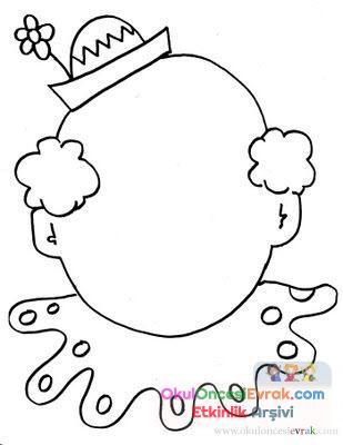 Palyaço Boyama 4 Preschool Activity