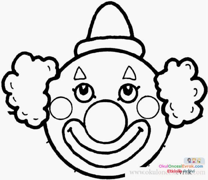 Palyaço Boyama 5 Preschool Activity