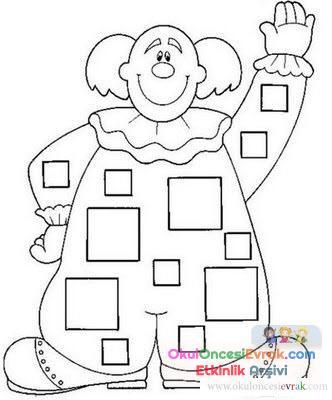 Palyaço Boyama 7 Preschool Activity