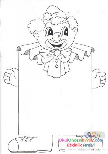 Palyaço Boyama 9 Preschool Activity