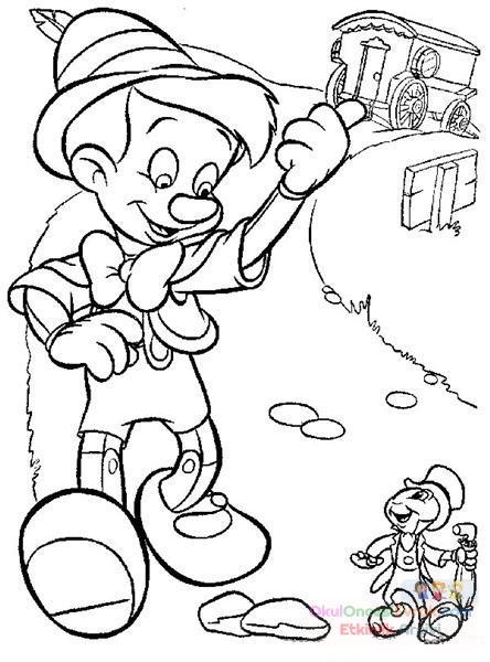 Pinokyo Boyama 5 Preschool Activity