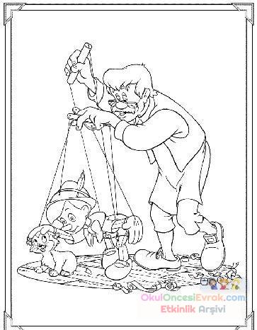 Pinokyo Boyama 6 Preschool Activity