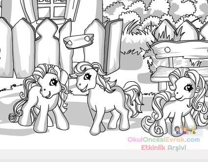 Pony Kolay Boyama Preschool Activity