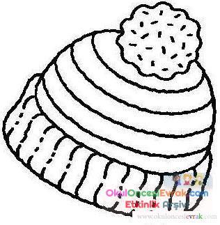 şapka Boyama 4 Preschool Activity