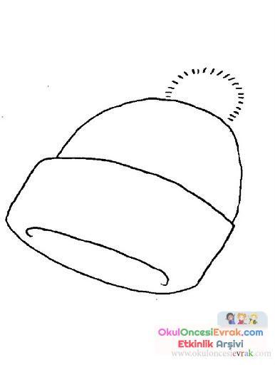 şapka Boyama 6 Preschool Activity