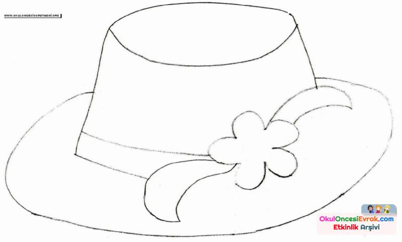 şapka Boyama Preschool Activity