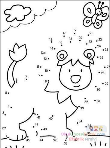 Sayı Birleştirme Kavram 148 Preschool Activity