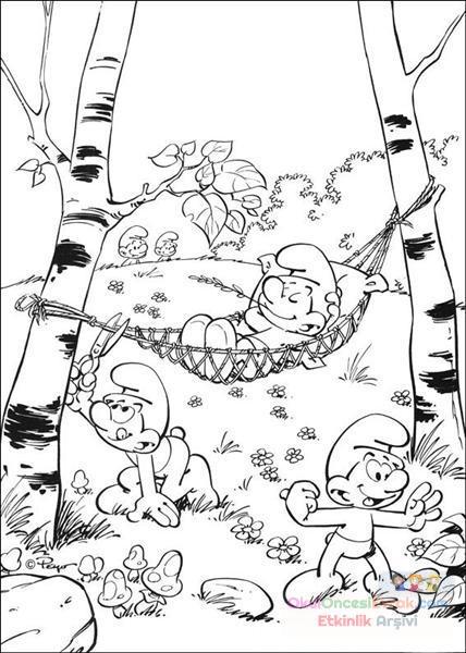 şirinler Boyama 6 Preschool Activity