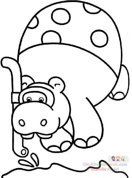 Su Aygiri Hayvanlar Boyama 6 Preschool Activity