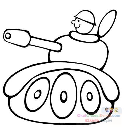 Tank Boyama Preschool Activity
