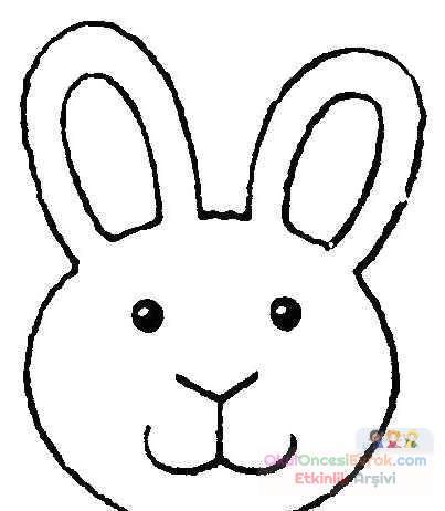 Tavşan Hayvanlar Boyama 56 Preschool Activity