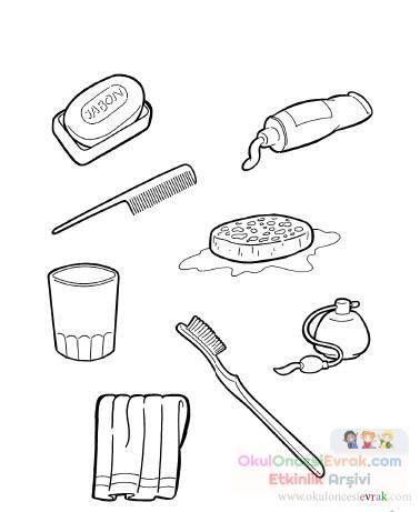 Temizlik Eşyaları Preschool Activity