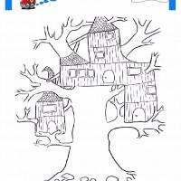 çocuklar Için Mevsimler Ilkbahar Mevsimi Boyama Sayfası 1