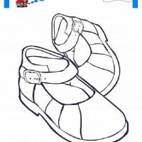 çocuklar Için Ayakkabı Kıyafet Giysi Boyama Sayfası 3 Preschool