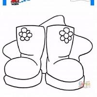Kışlık Ayakkabı Boyama Sayfası Gazetesujin