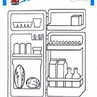çocuklar Için Buz Dolabı Eşyalar Boyama Sayfası 8 Preschool Activity