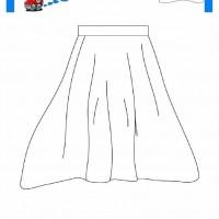 çocuklar Için Etek Kıyafet Giysi Boyama Sayfası 8 Preschool Activity