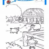çocuklar Için Hayvan çiftlik Hayvanları Boyama Sayfası 44