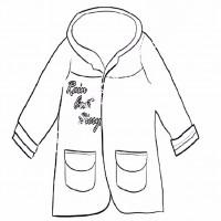 çocuklar Için Kaban Mont Kıyafet Giysi Boyama Sayfası 5 Preschool